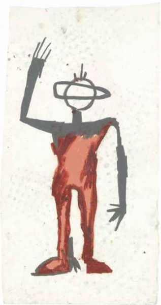Jean-Michel Basquiat-Untitled (Martian)-1981