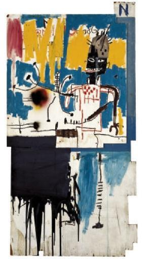 Jean-Michel Basquiat-Untitled (N in Top Right Corner)-1985