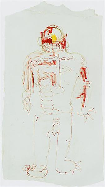 Jean-Michel Basquiat-Untitled, Nude Figure-1983