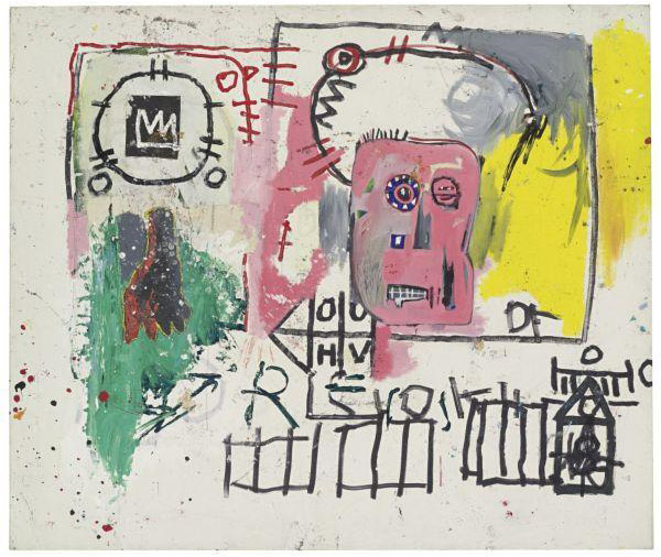 Jean-Michel Basquiat-Untitled (OOHV Pink Face)-1981