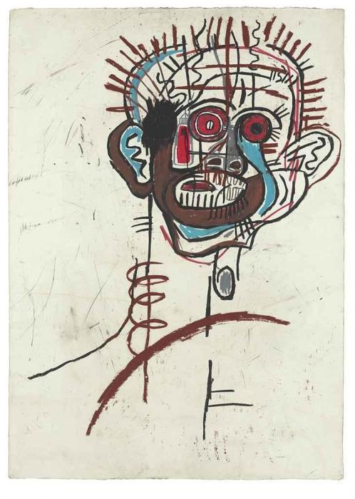 Jean-Michel Basquiat-Untitled (Offset Head)-1983
