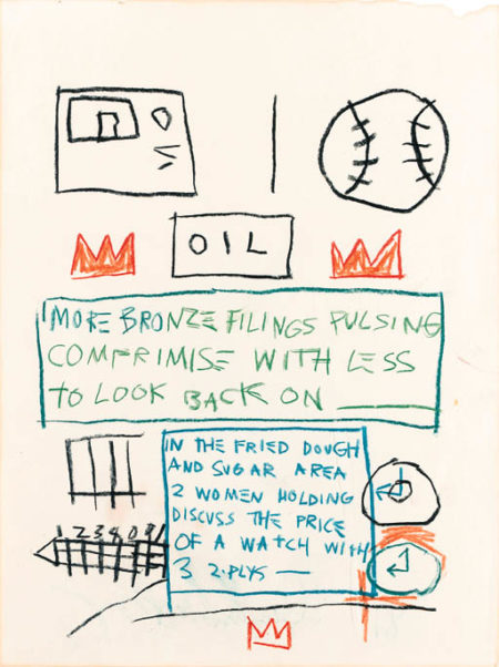 Jean-Michel Basquiat-Untitled (Oil, More Bronze)-1981