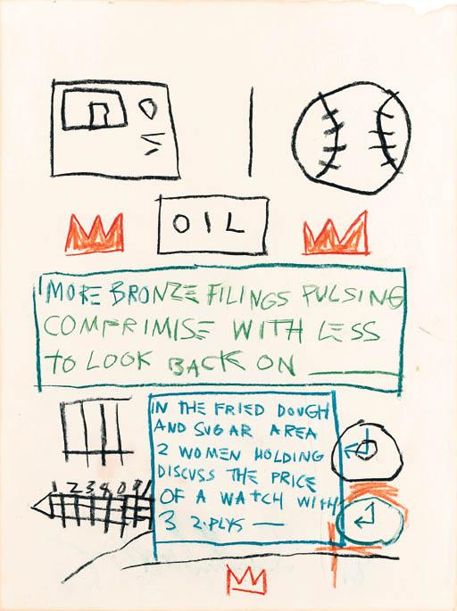 Jean-Michel Basquiat-Untitled (Oil, More Bronze)-1981