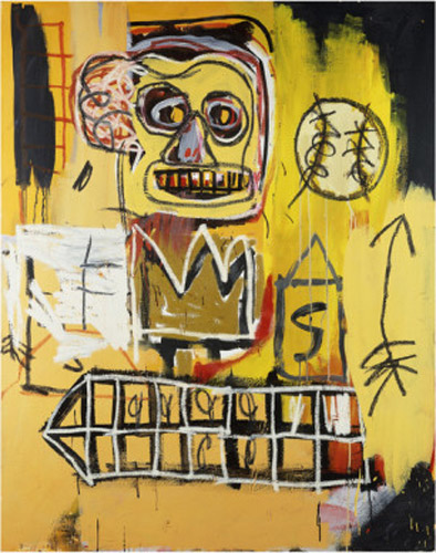Jean-Michel Basquiat-Untitled (Orange Sports Figure)-1982