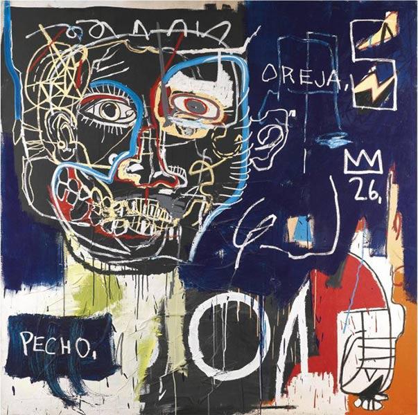 Jean-Michel Basquiat-Untitled (Pecho/Oreja)-1983