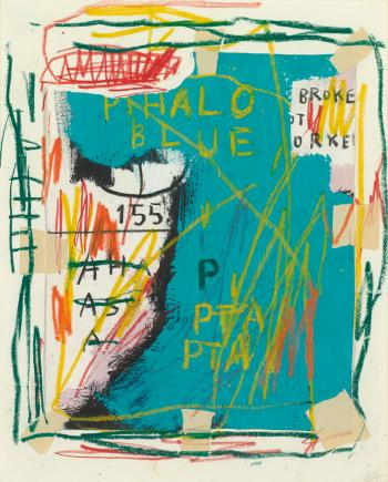 Jean-Michel Basquiat-Untitled (Phalo Blue)-1983