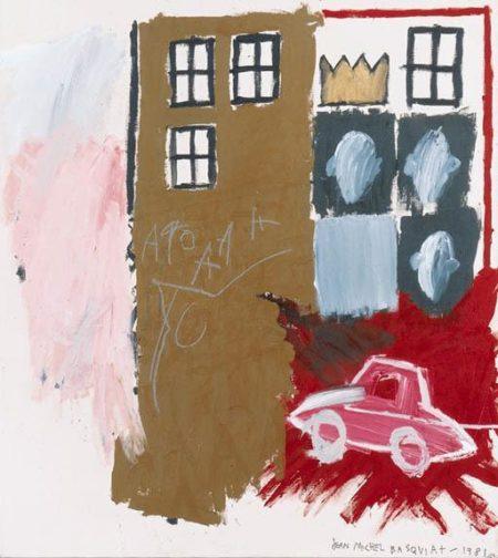 Jean-Michel Basquiat-Untitled (Pink Car in Corner)-1981