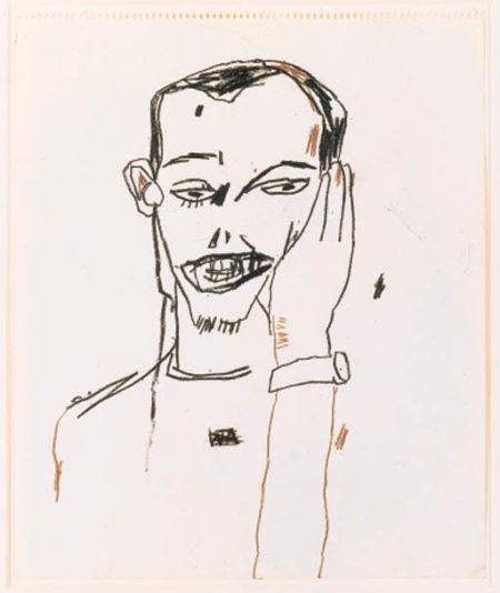 Jean-Michel Basquiat-Untitled (Portrait of a Man)-