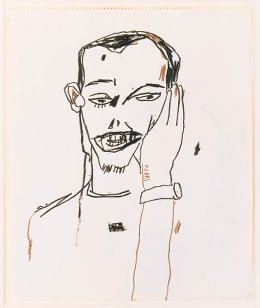 Jean-Michel Basquiat-Untitled (Portrait of a Man)-