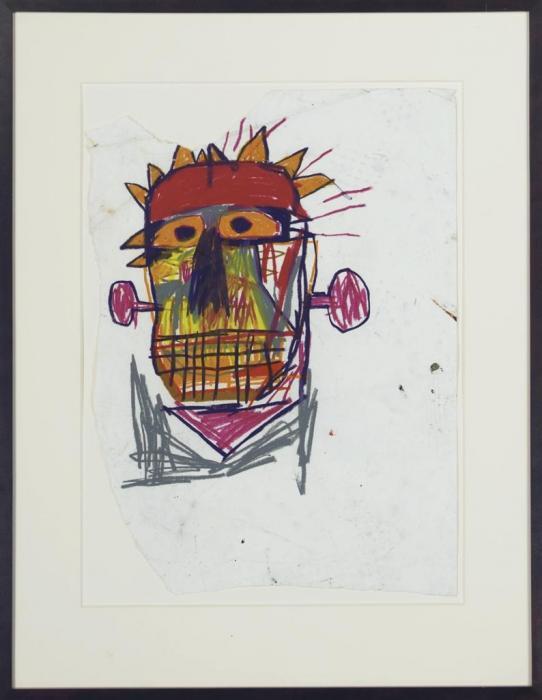 Jean-Michel Basquiat-Untitled (Purple Ears)-1982