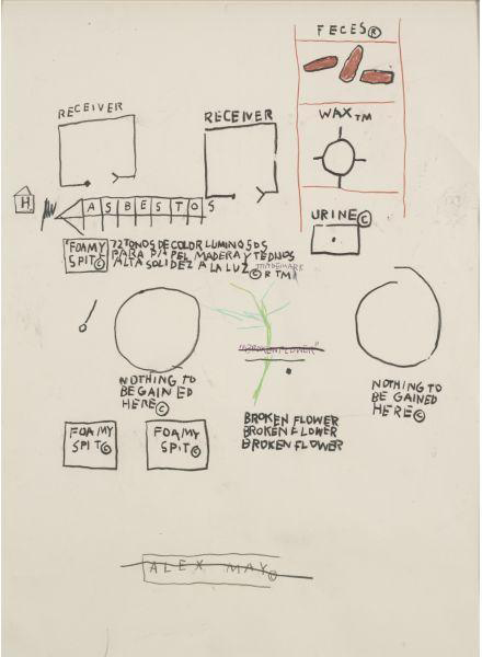 Jean-Michel Basquiat-Untitled (Receiver)-1987