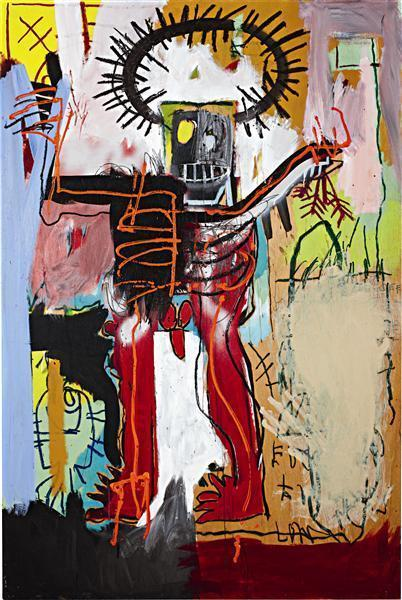 Jean-Michel Basquiat-Untitled (Red Leg King)-1981