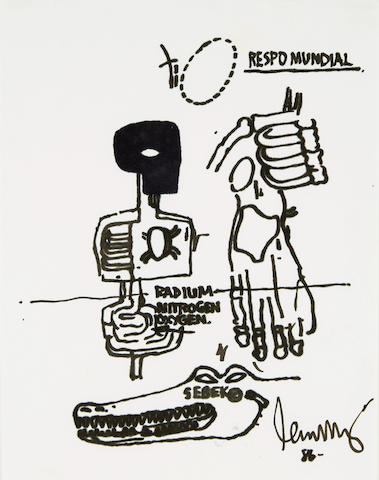 Jean-Michel Basquiat-Untitled (Respo Mundial)-1986