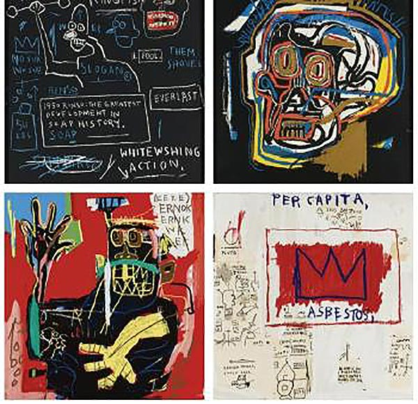 Jean-Michel Basquiat-Untitled (Rinso); (Head); (Ernok); (Per Capita)-1983
