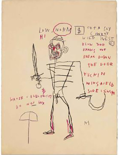 Jean-Michel Basquiat-Untitled (Rome)-1982