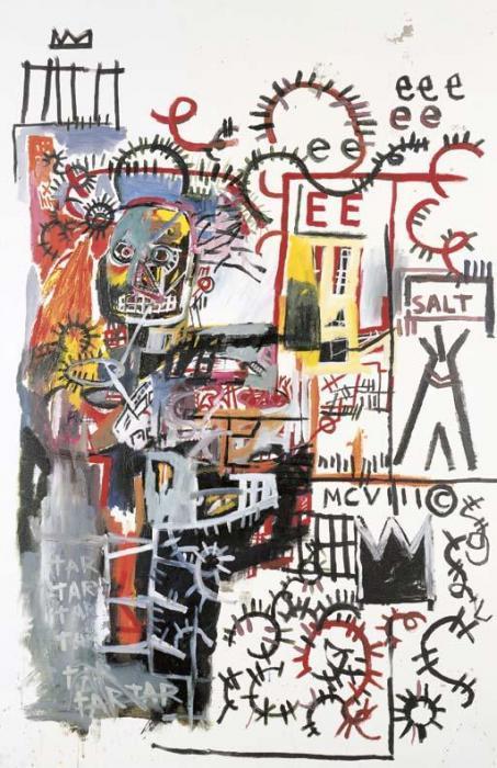 Jean-Michel Basquiat-Untitled (Salt)-1981