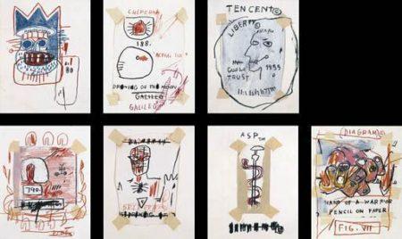 Jean-Michel Basquiat-Untitled (Seven Drawings)-