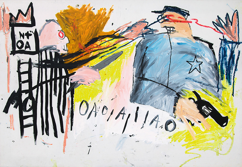 Jean-Michel Basquiat - Untitled (Sheriff), 1981
