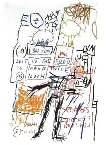 Jean-Michel Basquiat-Untitled (Shit In The Food)-1982