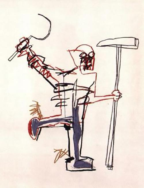 Jean-Michel Basquiat-Untitled (Sickle and Hammer)-