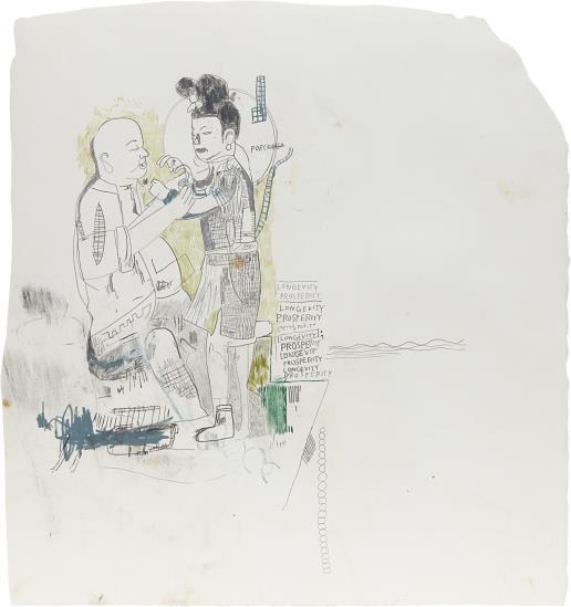 Jean-Michel Basquiat-Untitled (Longevity Prosperity)-1986