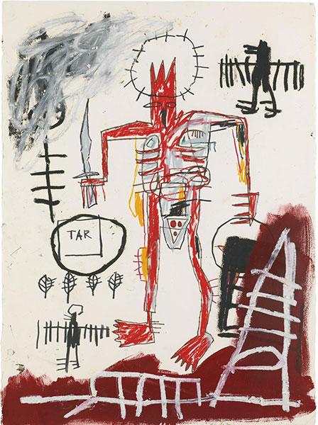 Jean-Michel Basquiat-Untitled (Skinny Devil Tar)-