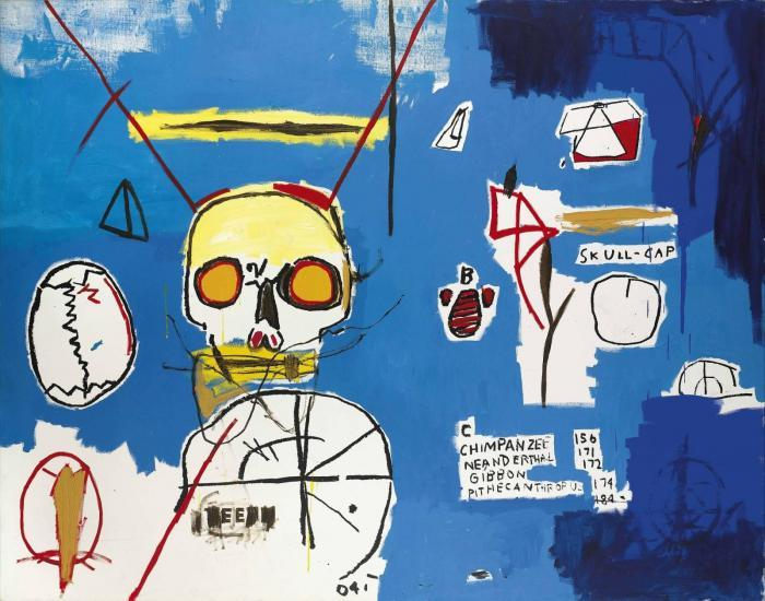 Jean-Michel Basquiat-Untitled (Skull B)-1984