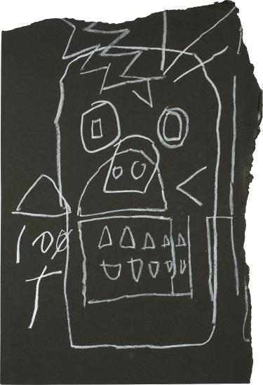Jean-Michel Basquiat-Untitled (Skull)-1981