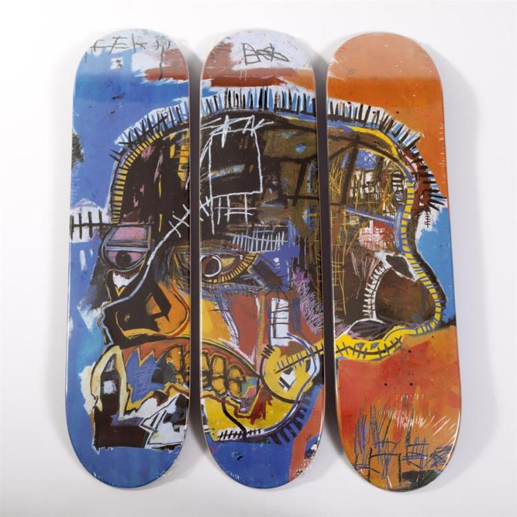 Jean-Michel Basquiat-Untitled Skull (skate decks)-
