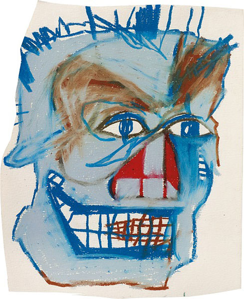 Jean-Michel Basquiat-Untitled (Smiling Blue Face)-1982