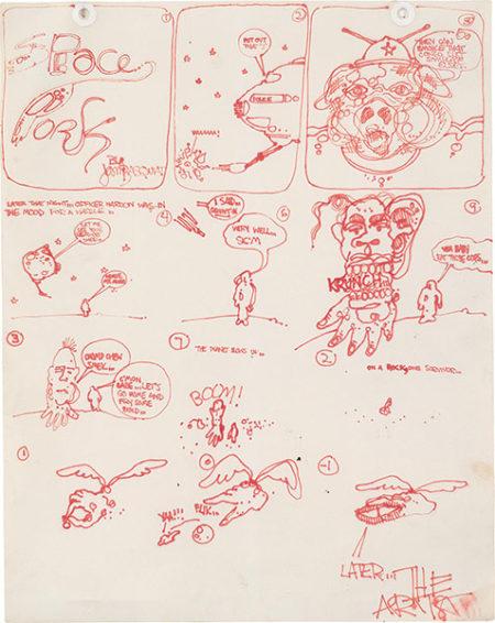Jean-Michel Basquiat-Untitled (Space Park)-1977