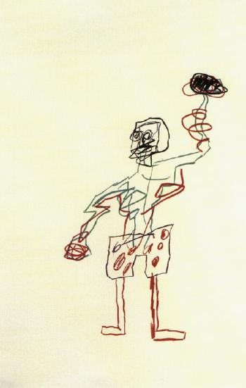 Jean-Michel Basquiat-Untitled (Standing Man with Torch)-1983