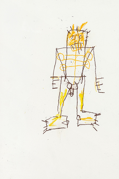 Jean-Michel Basquiat-Untitled (Stickman, Penis)-1982