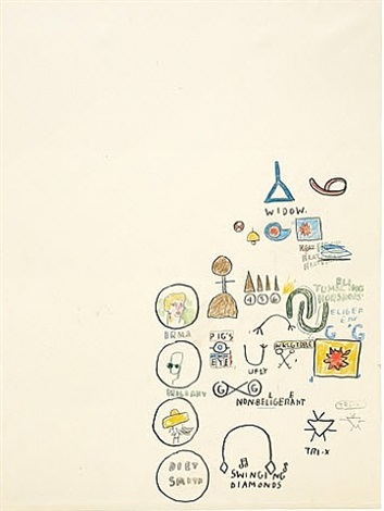 Jean-Michel Basquiat-Untitled (Swinging Diamonds)-1987