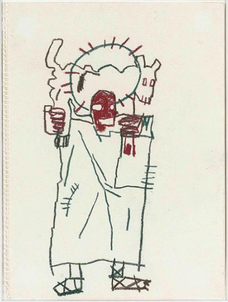 Jean-Michel Basquiat-Untitled (Taking The Medalion Off The Podium)-1982