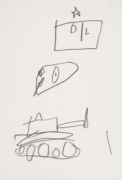 Jean-Michel Basquiat-Untitled (Tank)-1985