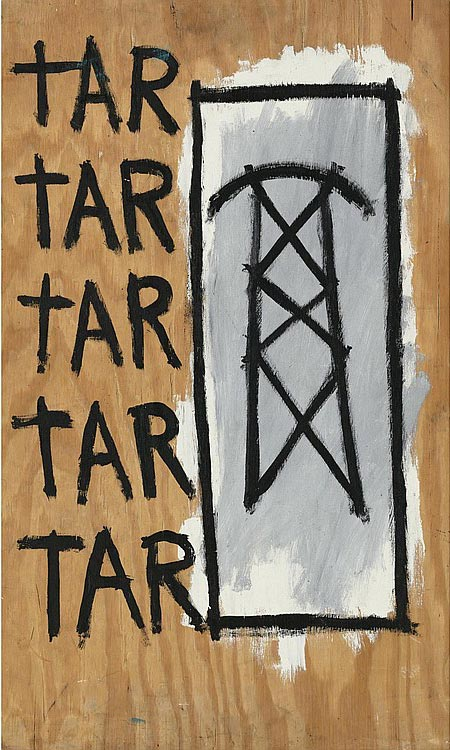Jean-Michel Basquiat-Untitled (Tar)-1981