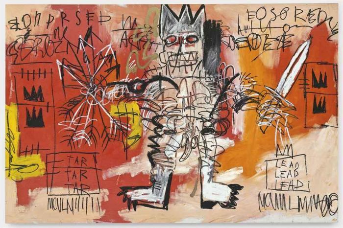 Jean-Michel Basquiat-Untitled (Tar Tar Tar, Lead Lead Lead)-1981