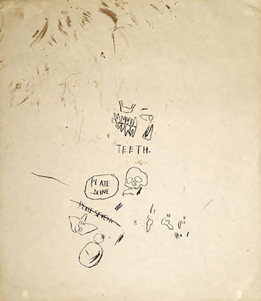 Jean-Michel Basquiat-Untitled (Teeth), from Leonardo-1983