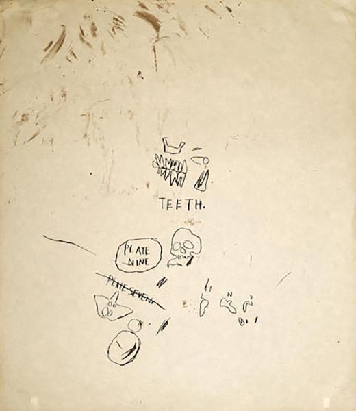 Jean-Michel Basquiat-Untitled (Teeth), from Leonardo-1983