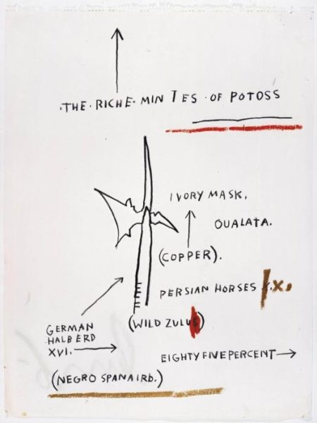Jean-Michel Basquiat-Untitled (The Riche Mintes of Potoss)-1982