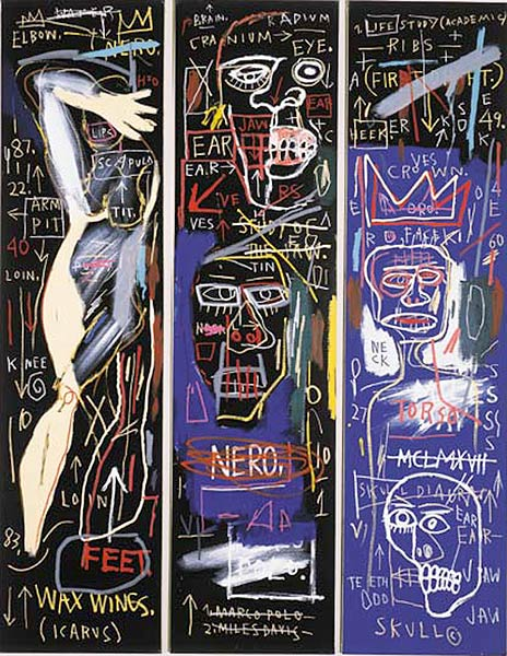 Jean-Michel Basquiat-Untitled (Triptych)-1983