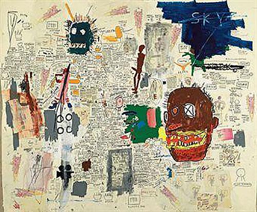 Jean-Michel Basquiat-Untitled (Two Face X Eye)-1987