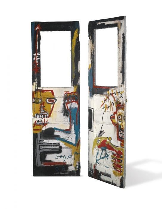 Jean-Michel Basquiat-Untitled (Two Faced Door)-1982