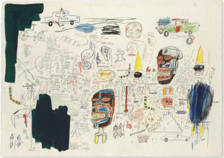 Jean-Michel Basquiat-Untitled (Two Heads, Chaos)-1984