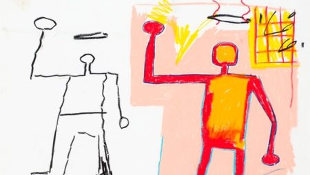 Jean-Michel Basquiat-Untitled (Two Stickman, Silhouette...)-