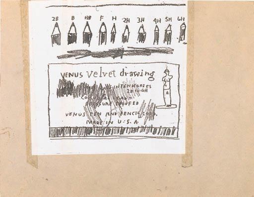 Jean-Michel Basquiat-Untitled (Velto Venus Drawing)-
