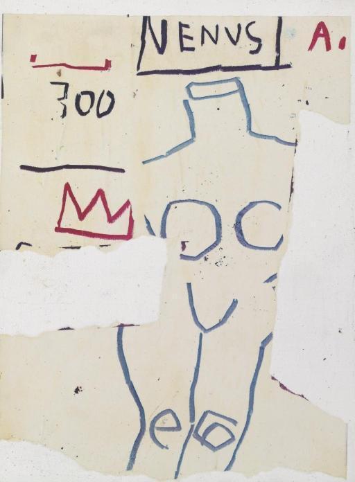 Jean-Michel Basquiat-Untitled (Venus, To JMCRTS?.)-1982