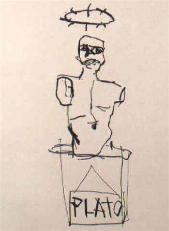 Jean-Michel Basquiat-Untitled (Venus and Plato)-