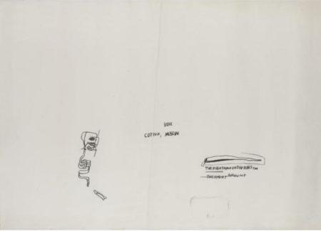 Jean-Michel Basquiat-Untitled (Voil, Cotton, Muslin)-1982